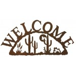image for Desert Moon & Cactus Southwestern Welcome Sign
