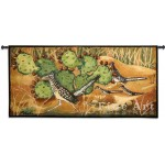 image for Desert Tracks Cactus Roadrunner Tapestry & Rod