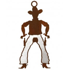 image for Cowboy Draw Pistols Western Ornaments Set of 3