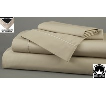 image for Taupe Dreamfit 3-Degree 100% Pima Cotton Bed Sheet Set