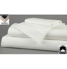 image for White Dreamfit 3-Degree 100% Pima Cotton FULL XL Bed Sheet Set