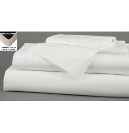 image for WHITE DreamFit 5-Degree Bamboo-Cotton TWIN Bed Sheet Set