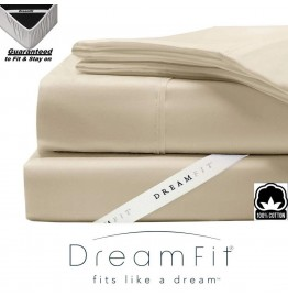 image for Champagne Dreamfit DreamCool 100% Egyptian Cotton FULL XL Bed Sheet Set
