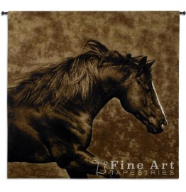 Eastward Gallop Stallion Wall Tapestry 51 x 53