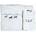 image for Horses Running 3-Pc  Bath Towel Set White