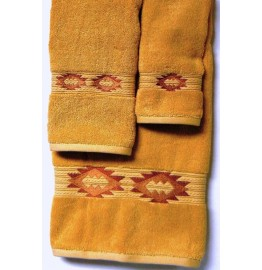 image for Gallop Southwest Medallion 3-Pc Bath Towel Set Gold