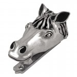 image for Horse Head Pewter Door Knocker Antique Silver