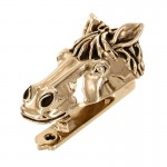 image for Horse Head Pewter Door Knocker Antique Gold