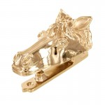 image for Horse Head Pewter Door Knocker Polished Gold