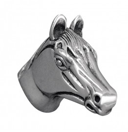 image for Horse Head Pewter Pull Knob LARGE 1-1/2 in Antique Silver