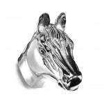 image for Horse Head Pewter Pull Knob LARGE 1-1/2 in Polished Silver