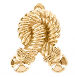 image for Twisted Rope Pewter Door Knocker Polished Gold