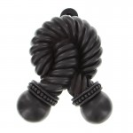 image for Twisted Rope Pewter Door Knocker Oil Rubbed Bronze