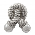 image for Twisted Rope Pewter Door Knocker Polished Silver