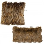 image for Feathers Faux Fur Throw Pillow Set of 2