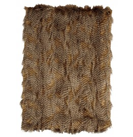 image for Feather Faux Fur Throw Blanket 54 x 72