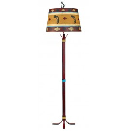 image for Kokopelli Accent Southwest Iron Floor Lamp & Shade 64""