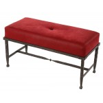 image for Forest Hill Iron Narrow Upholstered Bench 36 inch