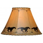 image for Galloping Ponies Hand Painted Leather Lampshades