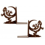 image for Gecko Lizard Southwestern Bookend Set