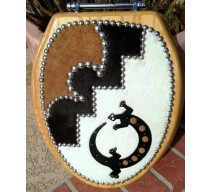 image for Southwest Gecko Cowhide Leather Toilet Seat