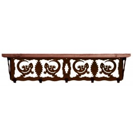 image for Gecko Lizard Southwest 34 inch Wall Shelf (hooks avail)
