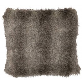image for Geronimo Haze Cape Grey Fox Faux Fur Pillow 18x18