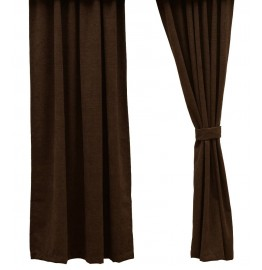 image for Heavenly Espresso Brown Corduroy Drapery Panel 53 x 84