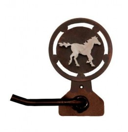 image for Galloping Horse Bath Tissue Holder Burnished