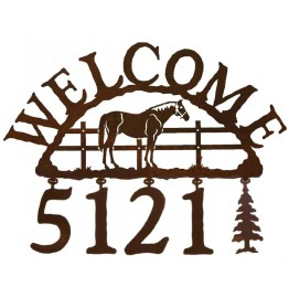 image for Horse Standing Corral Address Sign