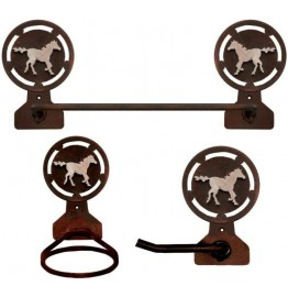 image for Galloping Horse Towel Bar Set 3-piece