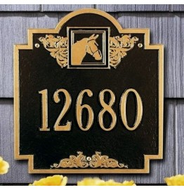image for Horse Head Medallion Personalized Ranch Plaque 1 Line