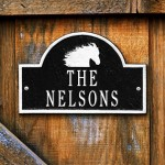 image for Horse Icon Personalized Stall Marker Plaque 2 Line