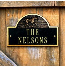 image for Horse Icon Personalized Ranch Stall Plaque 2 Line