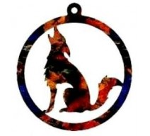 image for Howling Coyote Western Christmas Ornament