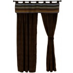 image for Hudson II Valance & Chocolate Velvet Suede Drapery Set 84 Long