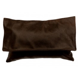 image for Leather Flap Western Throw Pillow 12 x 18