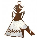 image for Indian Tepee Southwest Christmas Ornament Set of 3