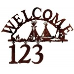 image for Indian Tepee Camp Southwest Address Sign