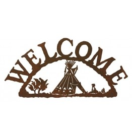 image for Indian Tepee Southwestern Welcome Sign