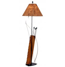 image for Southwest Bow & Quiver Metal Floor Lamp & Shade 61.5 inch