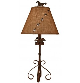 image for Iron S-Leg Horse Icon Lamp & Shade 31""