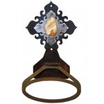 image for Jasper Stone Burnished Steel Towel Ring