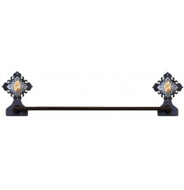 image for Unakite Stone Burnished Steel Hand Towel Bar