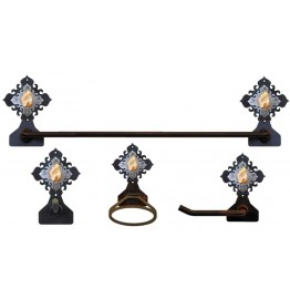 image for Jasper Stone Accent Towel Bar Set 4-piece