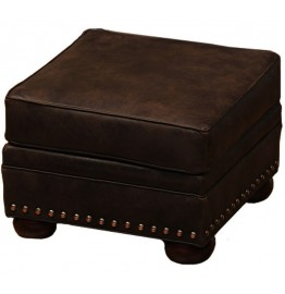 image for Jerome Davis Collection Leather Upholstered Storage Ottoman