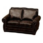 image for Jerome Davis Collection Leather Upholstered Love Seat