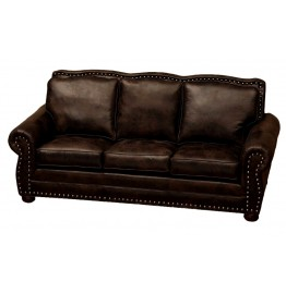 image for Jerome Davis Collection Leather Upholstered Queen Sleeper Sofa