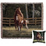 image for Josie & Foal Tapestry Throw & Pillow Set