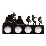 image for Kokopelli Desert Southwest Vanity Light Bar 4 bulb